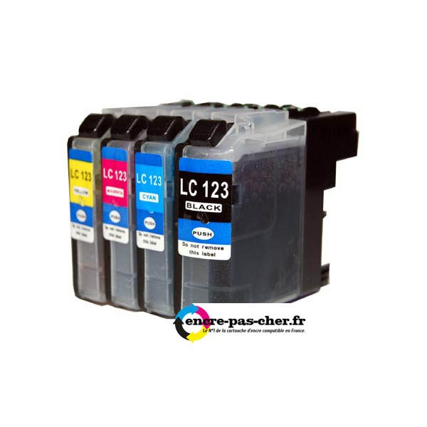 Cartouche encre Brother LC123 Pack.